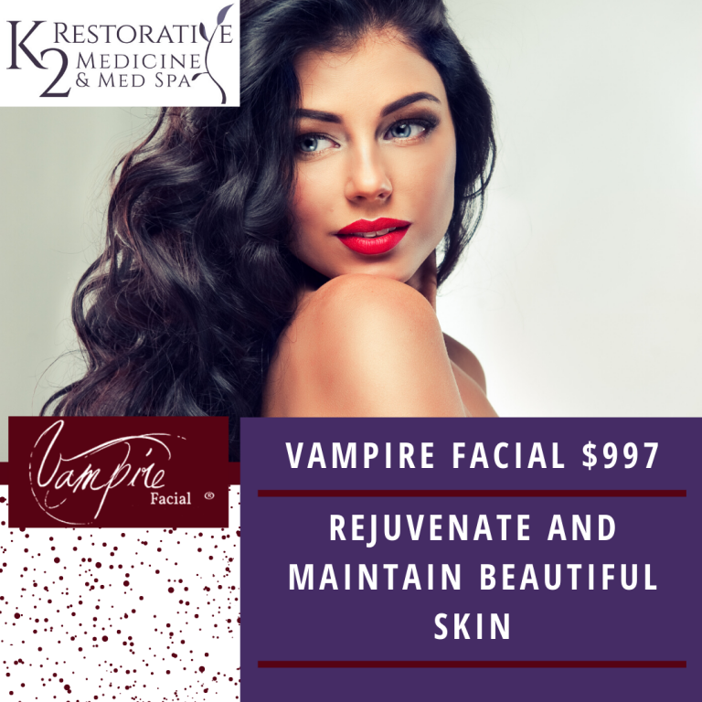 Vampire Facial offered at K2 Restorative Medicine in Trussville Alabama