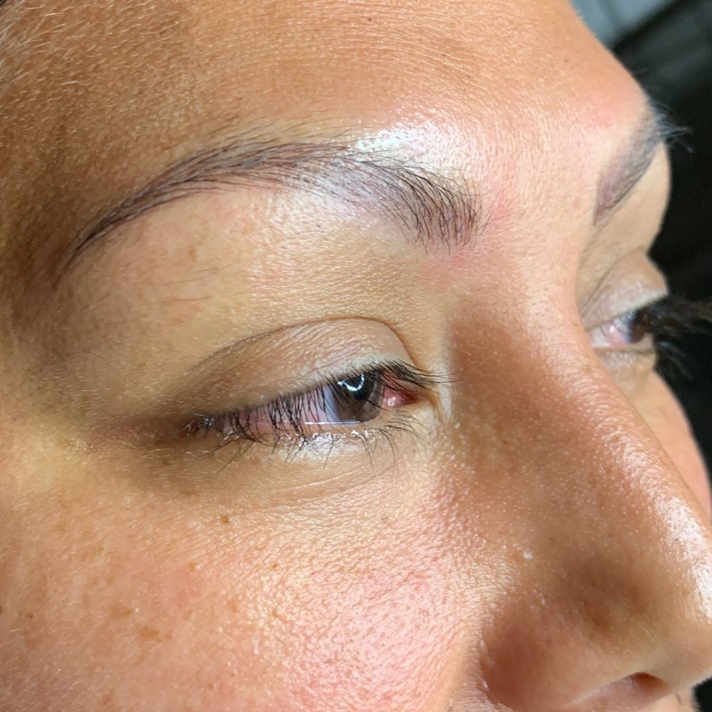 Microblading after the procedure by Tina Kane Netherton